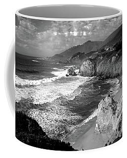 Black And White Big Sur Coffee Mug