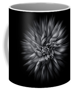 Black And White Flower Flow No 5 Coffee Mug