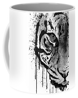 Black And White Half Faced Tiger Coffee Mug