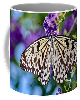 Black And White Paper Kite Butterfly Coffee Mug