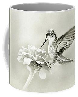 Black And White Ruby Throated Hummingbird Coffee Mug