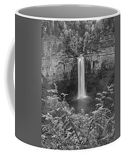 Coffee Mug featuring the photograph Black And White Taughannock Falls by Dan Sproul