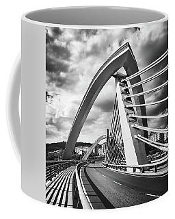 Black And White Version Of The Millennium Bridge Coffee Mug