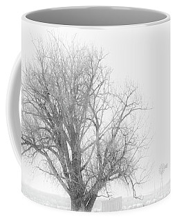 Coffee Mug featuring the photograph Black And White Windmill 01 by Rob Graham