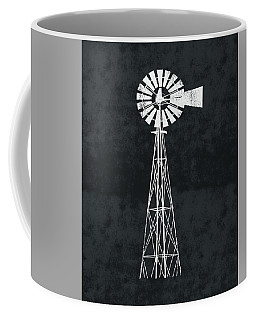 Black And White Windmill 2- Art By Linda Woods Coffee Mug