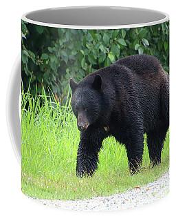 Black Bear Crossing Coffee Mug