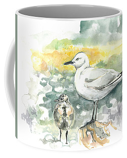 Black-billed Gull Family Coffee Mug