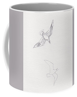 Black-billed Gulls Coffee Mug
