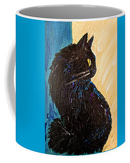Black Cat In Sunlight Coffee Mug