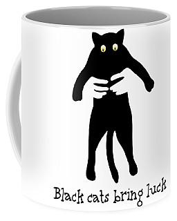 Black Cats Bring Luck Daughter Coffee Mug