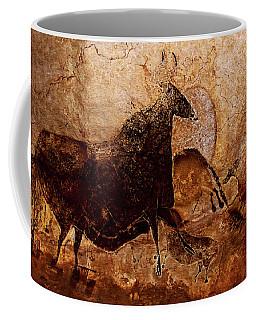 Black Cow And Horses Coffee Mug