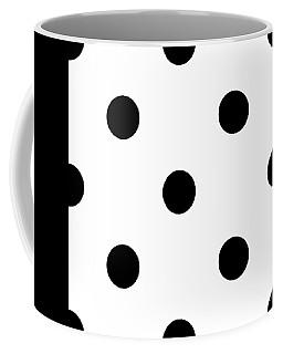 Black Dots On A White Background- Ddh610 Coffee Mug
