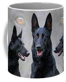 Black German Shepherd Dog Collage Coffee Mug