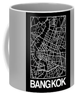 Black Map Of Bangkok Coffee Mug