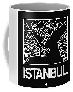 Black Map Of Istanbul Coffee Mug