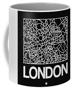 Black Map Of London Coffee Mug