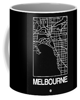 Black Map Of Melbourne Coffee Mug