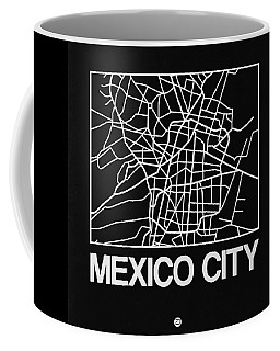 Black Map Of Mexico City Coffee Mug