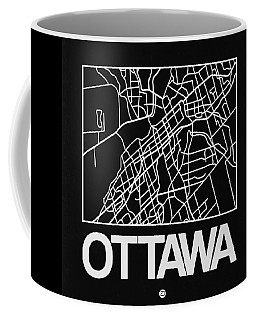 Black Map Of Ottawa Coffee Mug