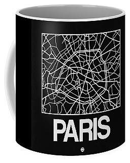 Black Map Of Paris Coffee Mug