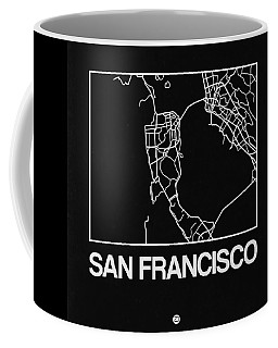 Black Map Of San Francisco Coffee Mug
