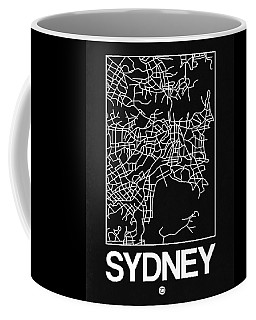 Black Map Of Sydney Coffee Mug