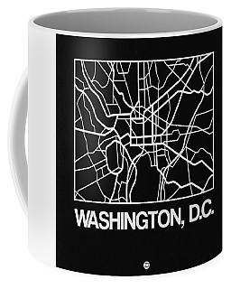 Black Map Of Washington, D.c. Coffee Mug