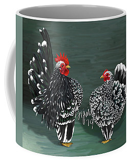 Black Mottled Serama Pair Coffee Mug