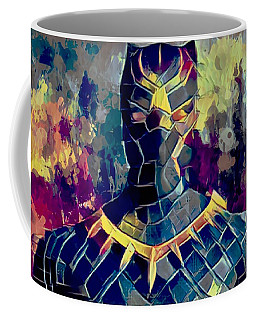 Coffee Mug featuring the mixed media Black Panther by Al Matra