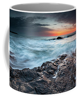 Black Sea Rocks Coffee Mug