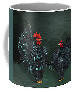Black Serama Pair Coffee Mug