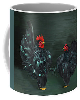 Black Serama Pair Coffee Mug