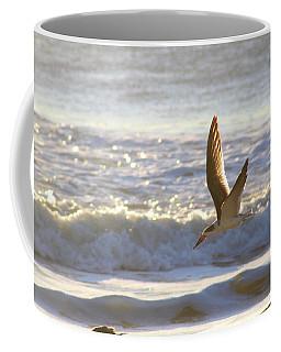 Coffee Mug featuring the photograph Black Skimmer In Flight by Robert Banach