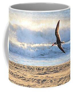 Coffee Mug featuring the photograph Black Skimmer Soaring by Robert Banach