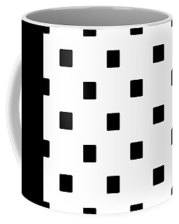 Black Squares On A White Background- Ddh574 Coffee Mug