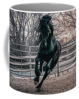 Black Stallion Cantering Coffee Mug