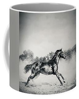 Coffee Mug featuring the photograph Black Stallion Horse by Dimitar Hristov
