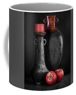 Black Vase With Red Apples Coffee Mug