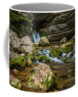 Coffee Mug featuring the photograph Blanchard Springs Headwater by Andy Crawford