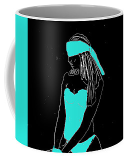 Coffee Mug featuring the drawing Blindfolded by W And F Kreations