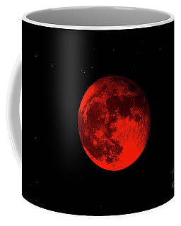Blood Red Wolf Supermoon Eclipse 873a Coffee Mug