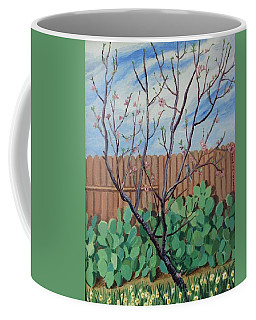 Blooming Peach In Our San Antonio Backyard Coffee Mug