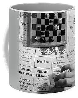 Blot Here, Aka Black's Move, 1972 Coffee Mug