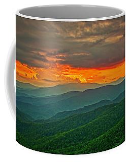 Coffee Mug featuring the photograph Blowing Rock Sunset by Meta Gatschenberger