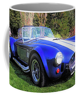 Blue 427 Shelby Cobra In The Garden Coffee Mug