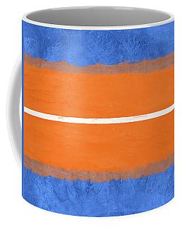 Blue And Orange Abstract Theme Iv Coffee Mug