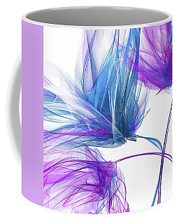 Blue And Purple I - Blue And Purple Abstract Art Coffee Mug