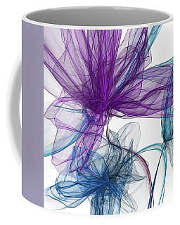 Blue And Purple Abstract Art Coffee Mug