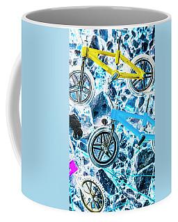 Blue Bike Background Coffee Mug