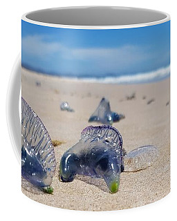 Coffee Mug featuring the photograph Blue Bottles by Chris Cousins